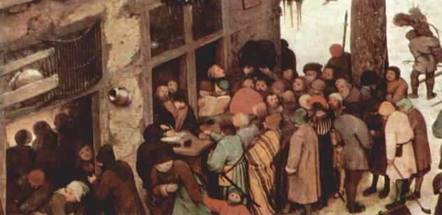 Censo en Belén, detalle -  Pieter  Brueghel - artelista.com