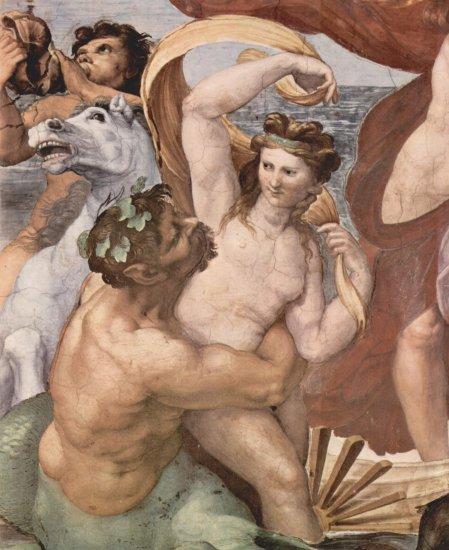 Frescos en la Villa Farnesia, fresco mural, escena