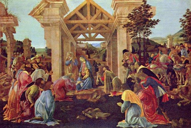 La adoración de los Reyes Magos (Washington) -  Sandro  Botticelli - artelista.com