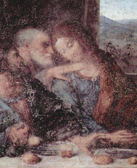 La última cena, detalle - Leonardo  da Vinci - artelista.com