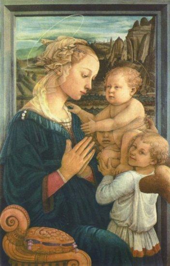 Madonna con dos ángeles -  Fra Filippo  Lippi - artelista.com
