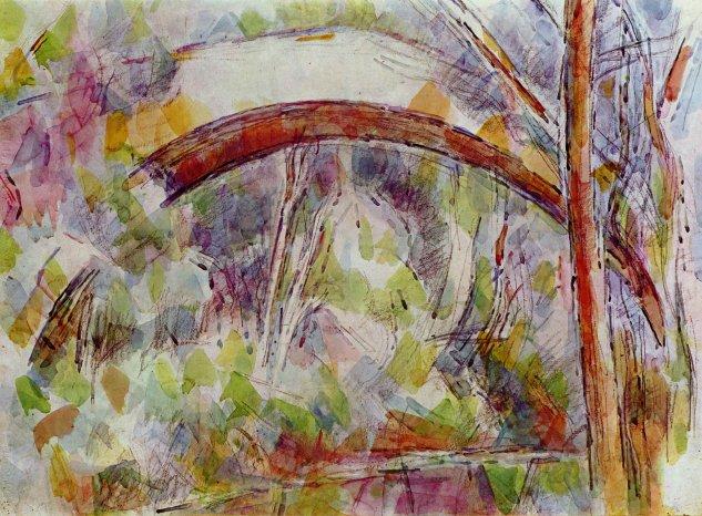 Río al lado del puente de las tres fuentes -  Paul Cézanne - artelista.com