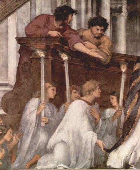 Stanza di Eliodoro en el Vaticano para Julio II, fresco mural, escena