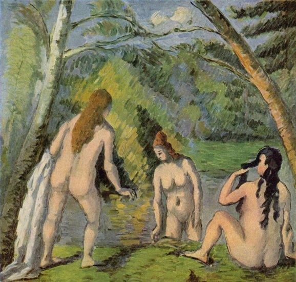 Tres mujeres bañandose -  Paul  Cézanne - artelista.com