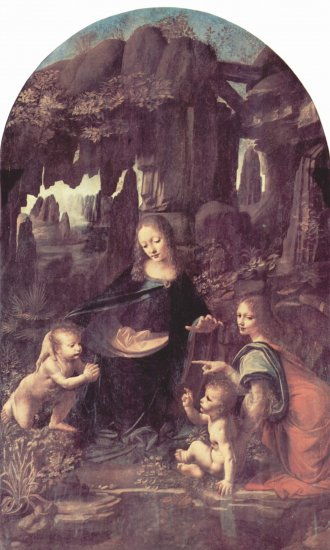 Virgen de las rocas, escena - Leonardo  da Vinci - artelista.com