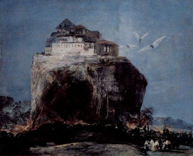 Asalto a un castillo en una colina - Francisco de Goya