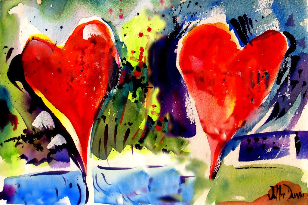 Arte lleno de amor y besos para San Valentín