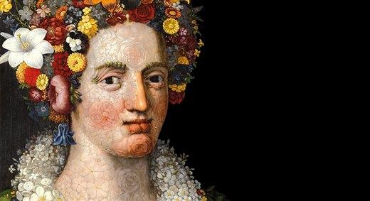 Giuseppe Arcimboldo. Dos pinturas de Flora