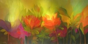Flores al amanecer. Carolina De Rossi