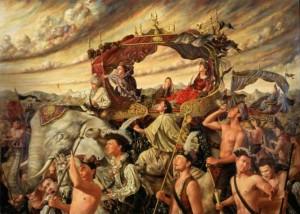 La caravana de la Reina. José Parra