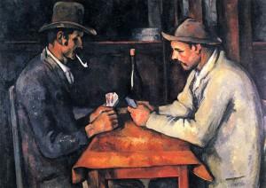 Los jugadores de cartas. Hacia 1893. Paul Cézanne