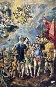 Martirio de San Mauricio. 1582. El Greco