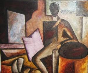 Pintor en el estudio. Esteban Amills Siso.