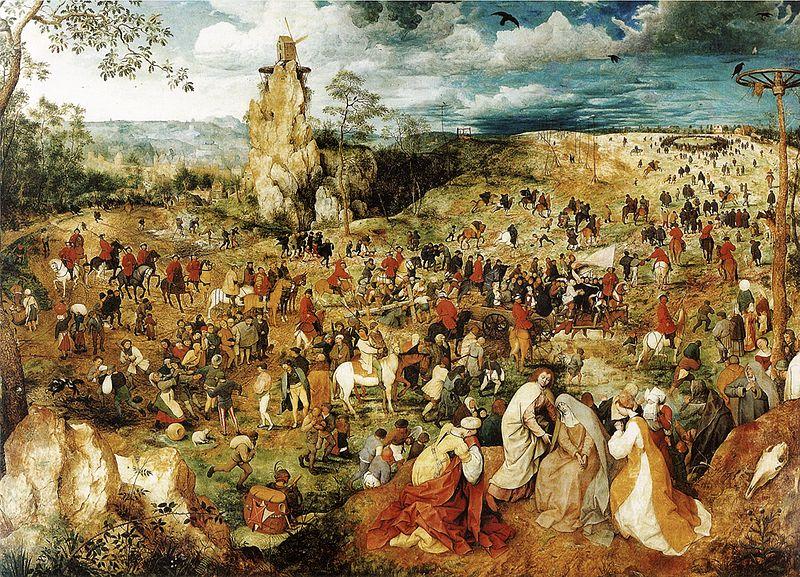 Camino del calvario. Hacia 1564. Pieter Brueghel