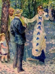 El columpio. 1876. Pierre Auguste Renoir