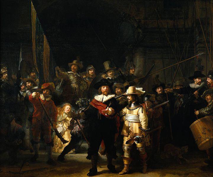 La ronda de noche . 1642. Rembrandt