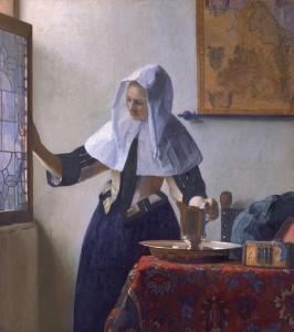 Mujer con una jarra de agua. Hacia 1662. Johannes Vermeer
