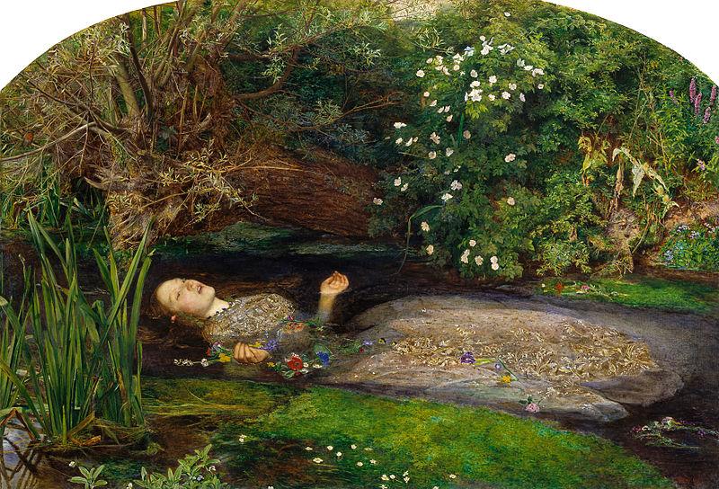 Ofelia. Hacia 1851. John Everett Millais