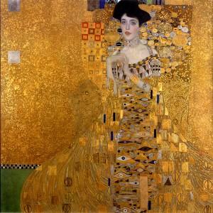 Retrato de Adele Bloch- Bauer. 1907. Gustav Klimt