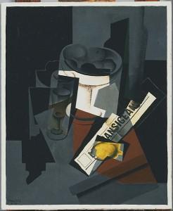 Frutero, vaso y limón. 1916. Juan Gris