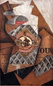 La botella de anís. 1914. Juan Gris