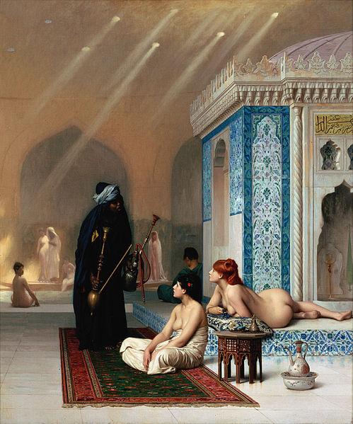 Los baños del harén. Hacia 1876. Jean- Léon Gérôme