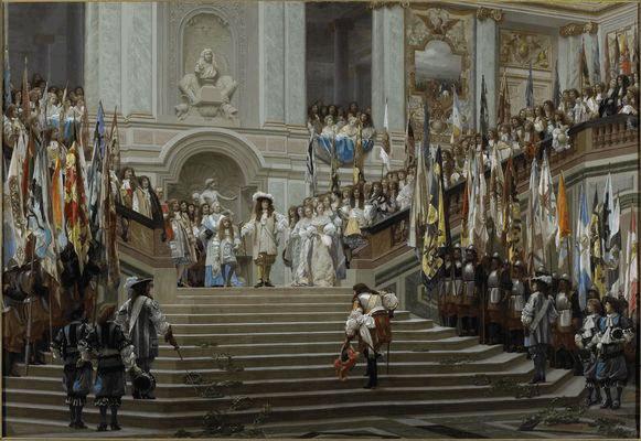 Recepción de Condé en Versalles. 1878. Jean- Léon Gérôme