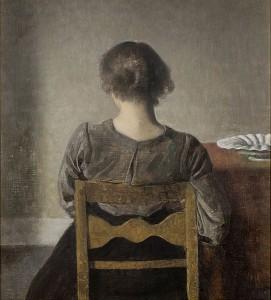 Descanso. 1905. Vilhelm Hammershoi