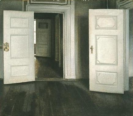 Puertas blancas o Puertas abiertas (Strandgade, 30). 1905. Vilhelm Hammershoi