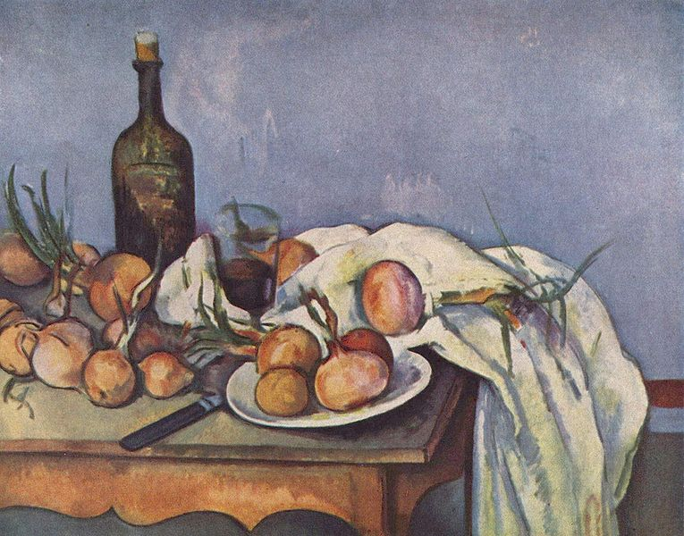 Bodegón con cebollas. 1896- 1898. Paul Cézanne