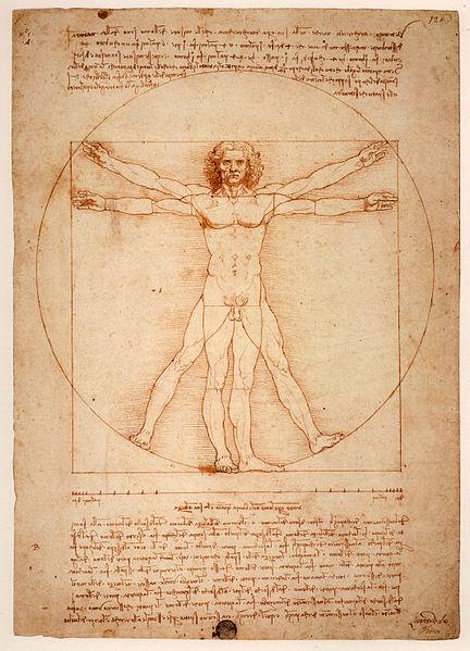 Resultado de imagen de Leonardo da Vinci, El Hombre de Vitruvio de 1490