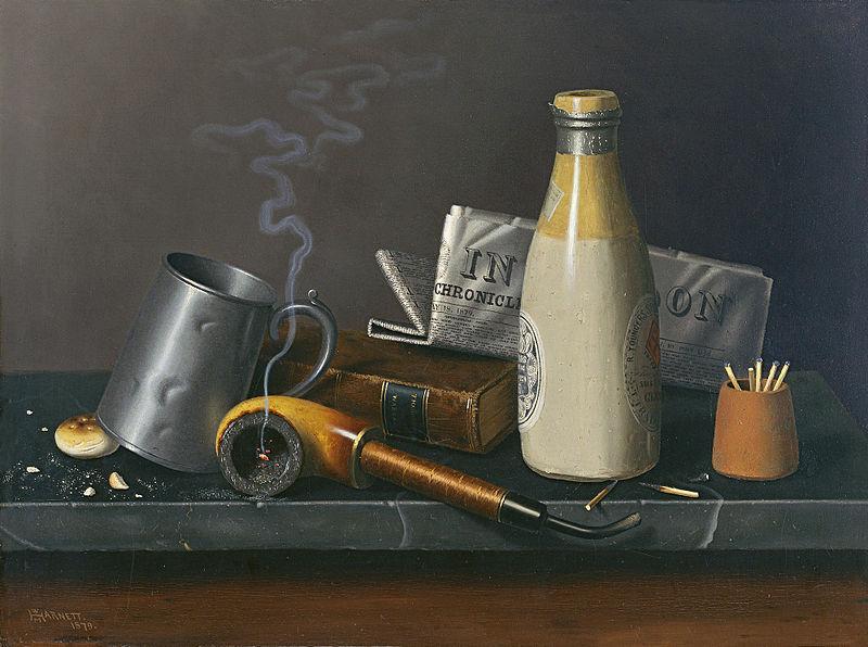 Objetos para un rato de ocio. 1879. William Harnett