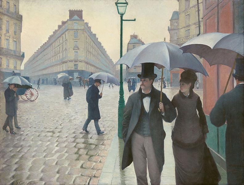 Calle de París, día lluvioso. 1877. Gustave Caillebotte