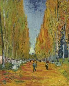 La avenida de los Alyscamps. 1888. Vincent van Gogh