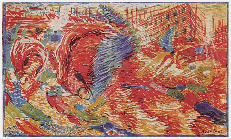 La ciudad que surge. 1910. Umberto Boccioni