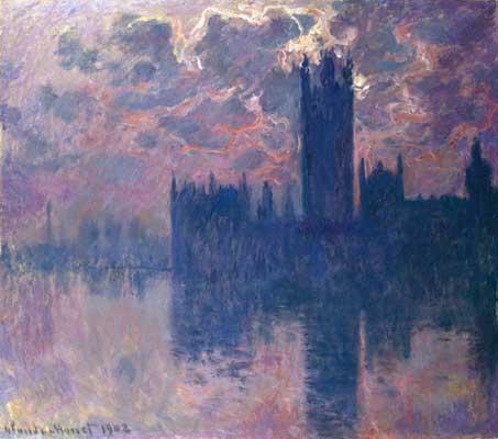 Parlamento de Londres, puesta de sol. 1900-1901. Claude Monet