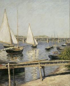 Veleros en Argenteuil. Hacia 1888. Gustave Caillebotte