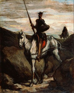 Don Quijote en las montañas. Hacia 1850. Honoré Daumier