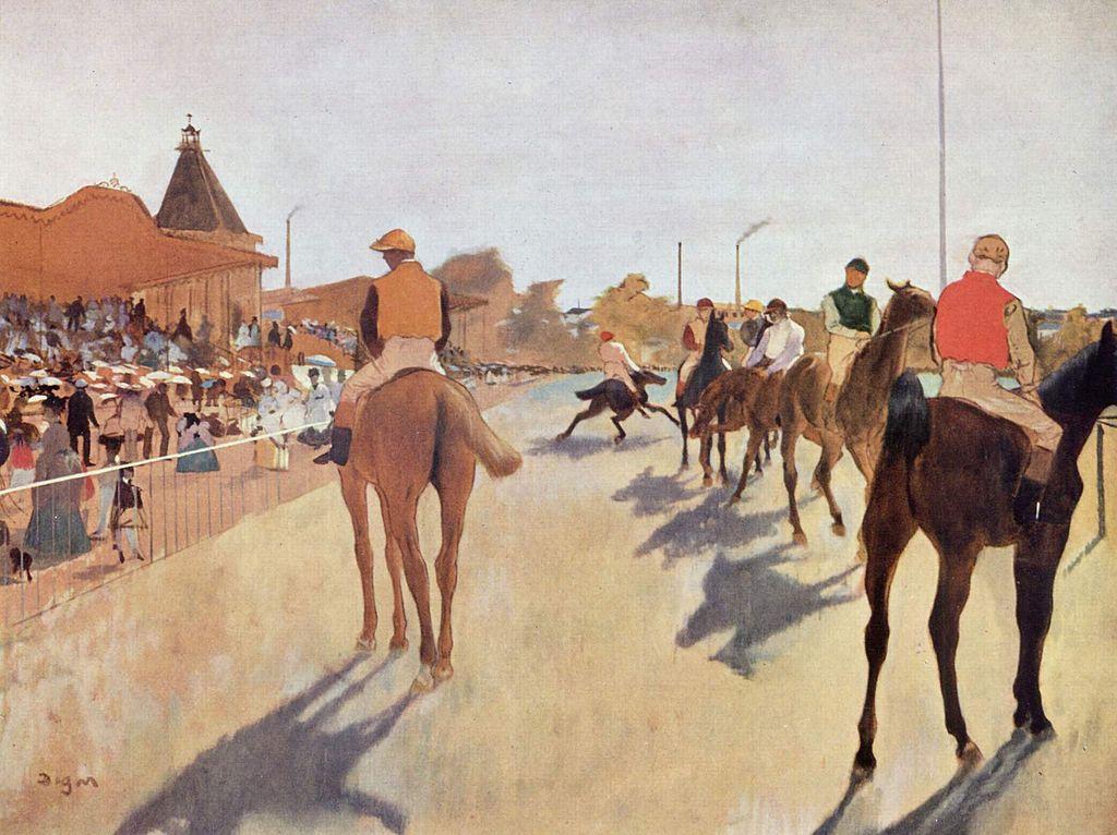 Degas y las carreras de caballos