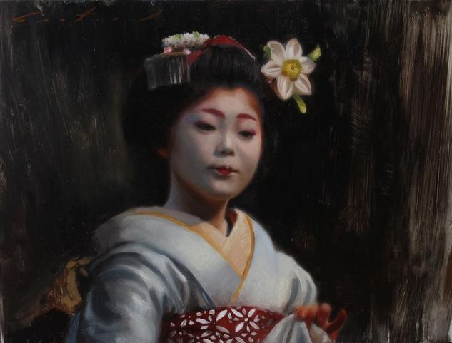 Hanatouro, geisha arte japonés. Phil Couture