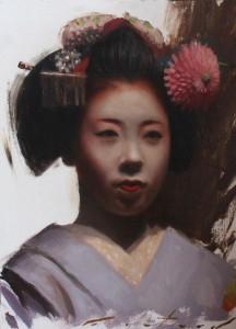 Ryouka, geisha arte japonés. Phil Couture
