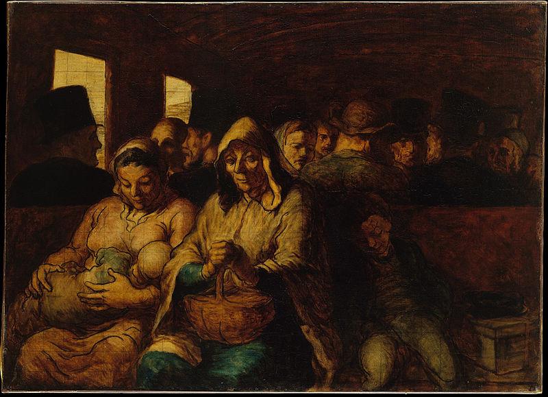 Vagón de tercera. Hacia 1862- 1864. Honoré Daumier