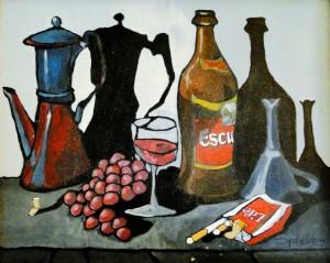 Pintura bodegón bohemio