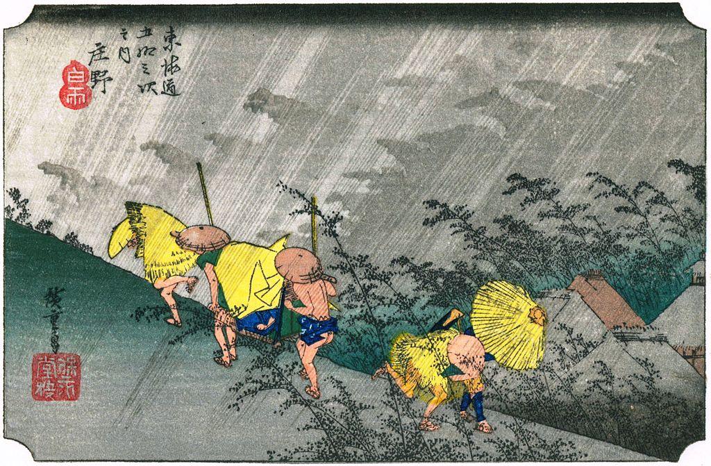 Ando Hiroshige: viajeros y sombras en el camino del Tokaido