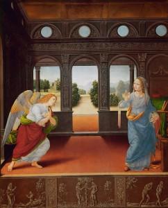 Anunciación. Hacia 1480- 1485. Lorenzo di Credi