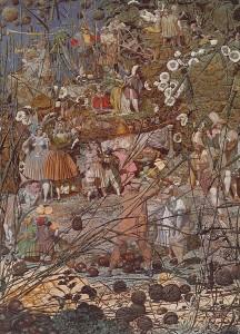 El golpe maestro del duende leñador. 1855- 1864. Richard  Dadd