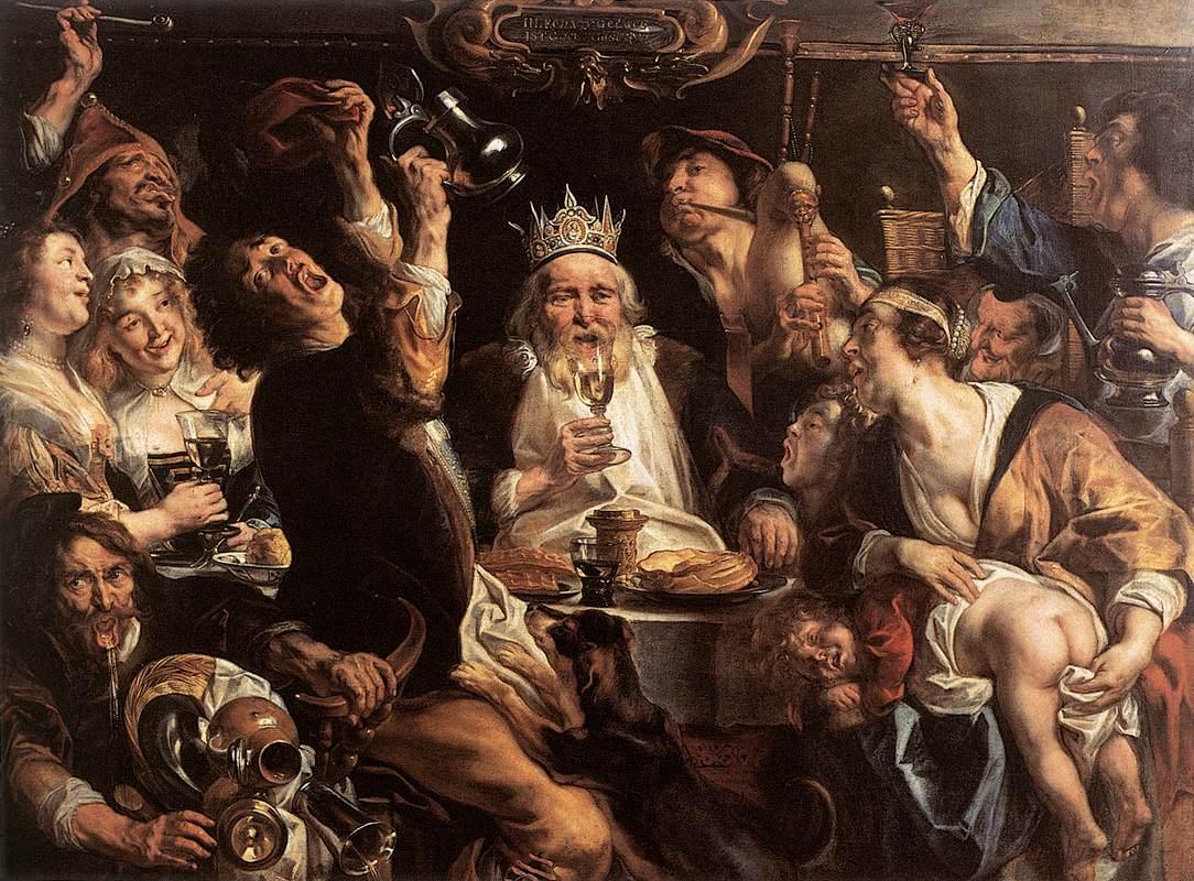 Jordaens: la embriaguez del monarca en el festín - Artelista Magazine