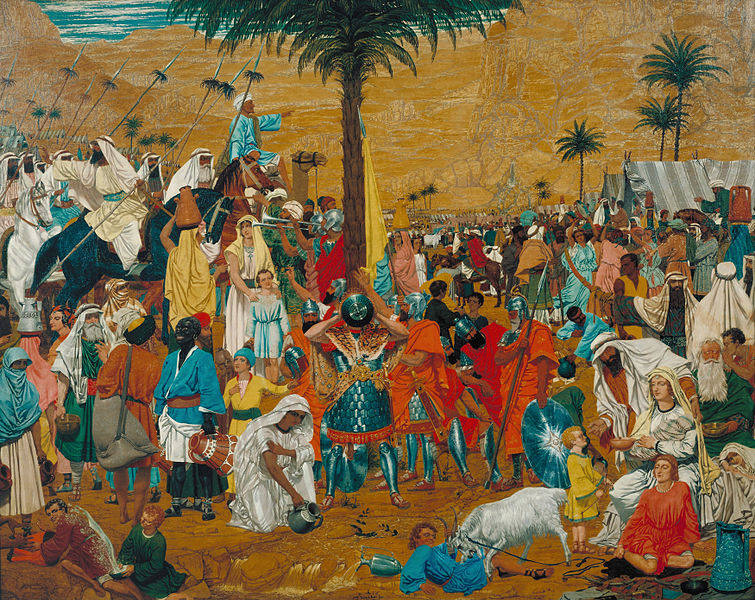 La huida a Egipto. Hacia 1849. Richard  Dadd