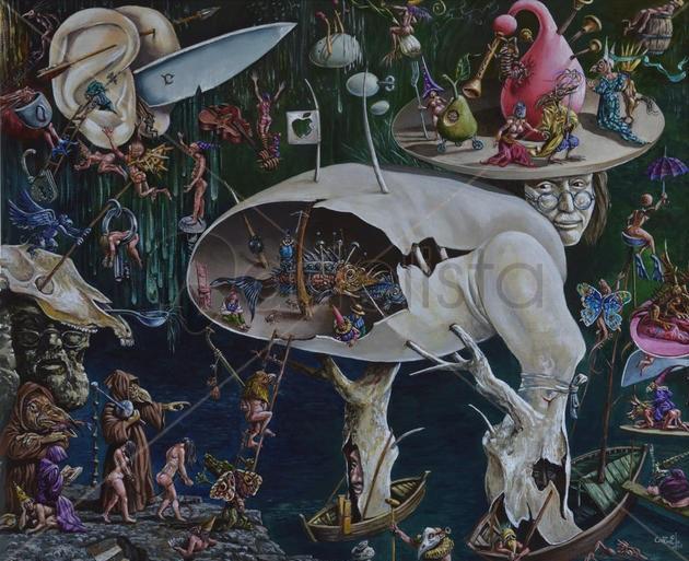 """Fragmento de """"El Jardín de las Delicias"""", Carmelo González Gutiérrez."""