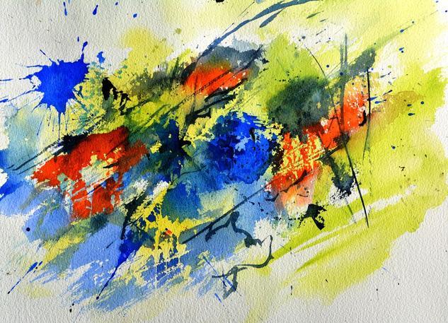 Acuarela abstracta 7002. Pol Ledent
